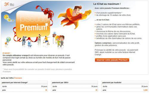 Tarifs Premium Orange