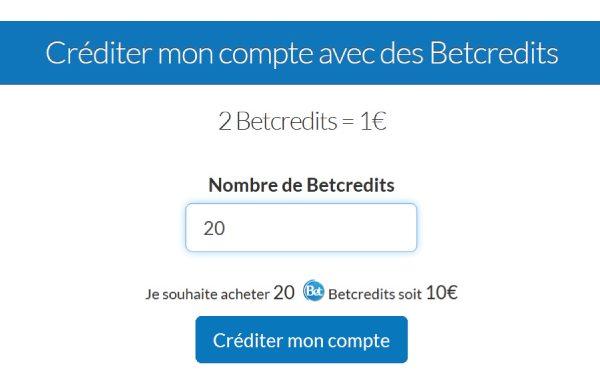 Tarifs & Prix des Credits - BetForPeople