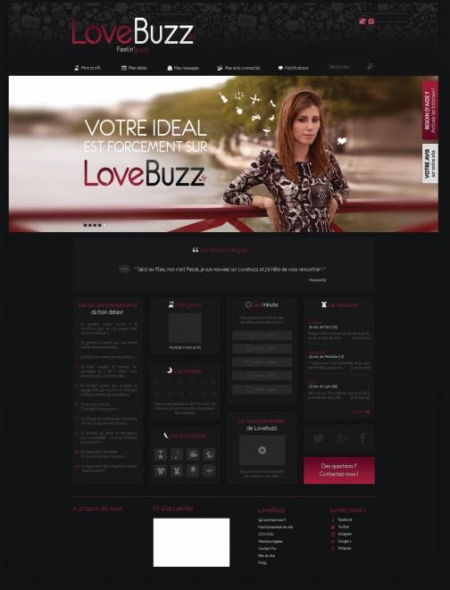 LoveBuzz - Apercu Interface