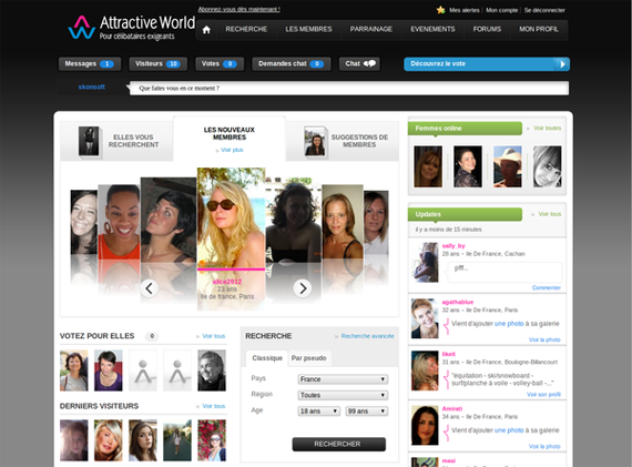 Attractiveworld - Apercu Interface - 01
