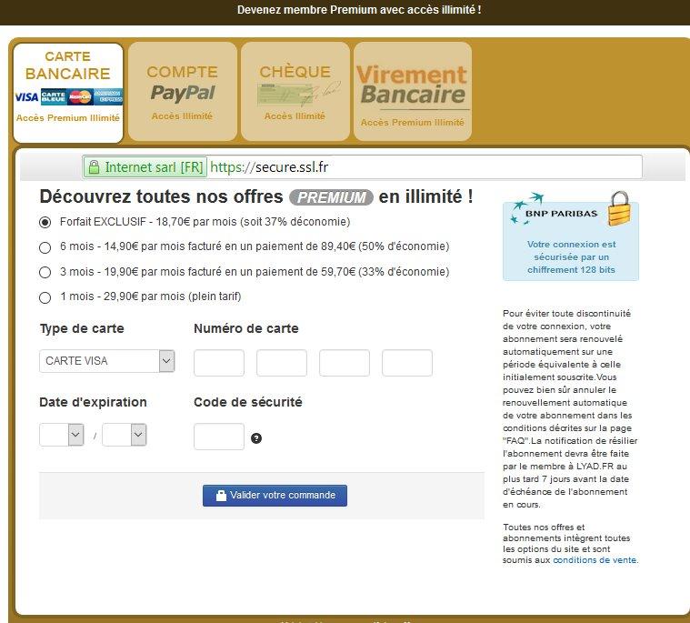 Lyad - Prix et Tarif abonnement premium