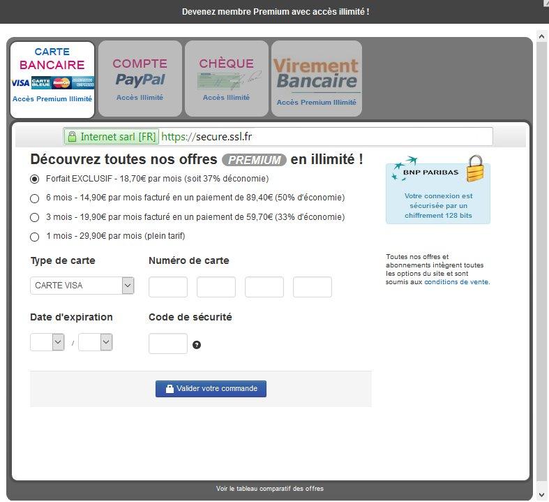 Tarifs & Prix Abonnement Premium - Seduction.fr