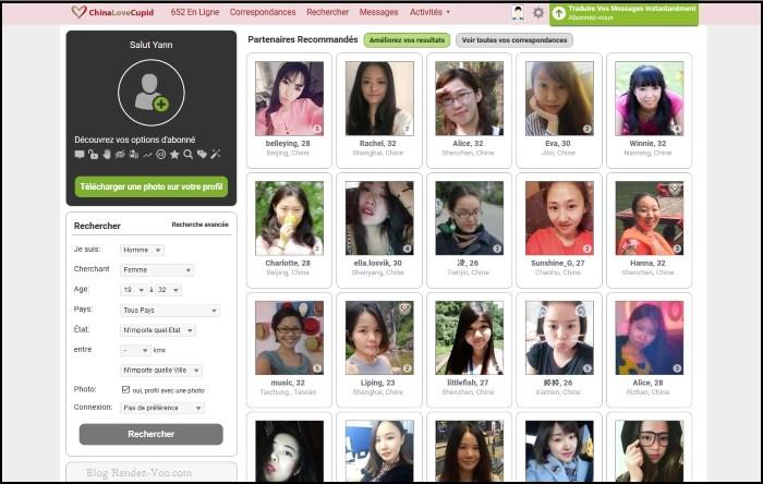 ChinaLoveCupid - Apercu Interface