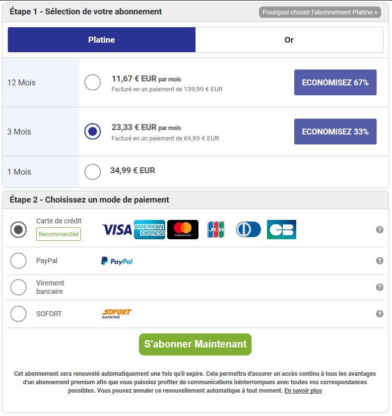 Tarif et Prix Abonnement Premium VIP - ChinaLoveCupid