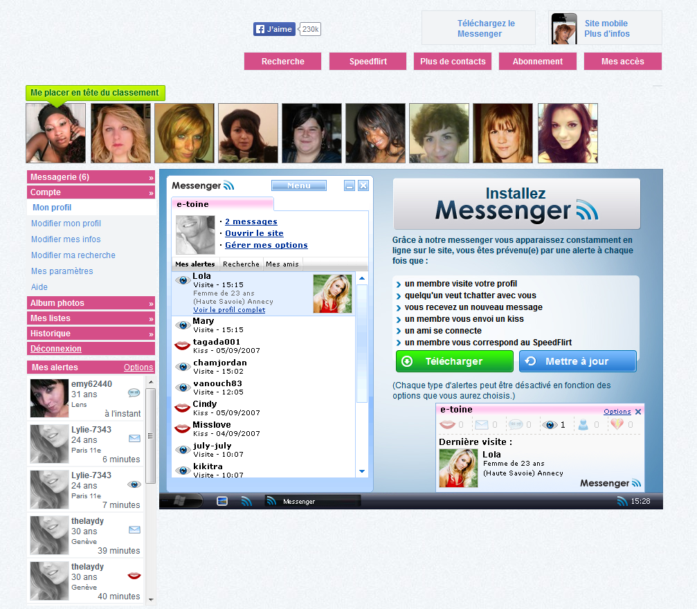 EasyFlirt - Tchat Webcam et Messenger