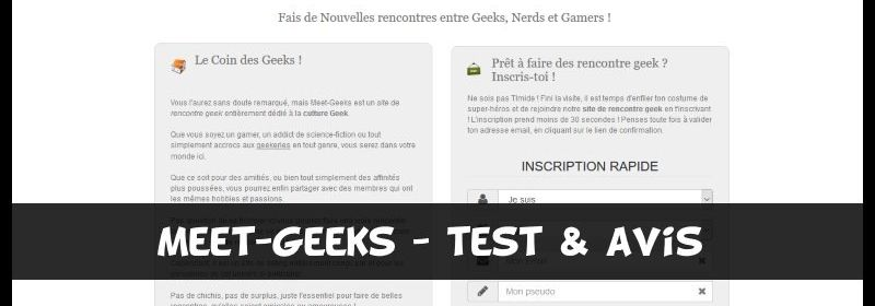 Meet-Geeks - Test & Avis